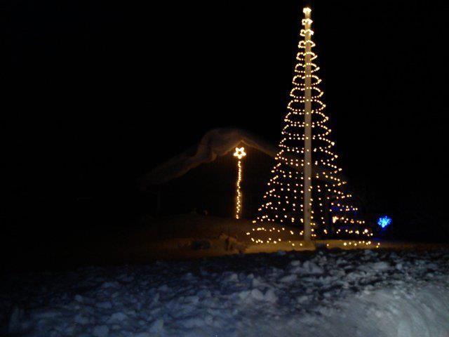 1.) Flag pole christmas tree with christmas star | Tis the Season ...