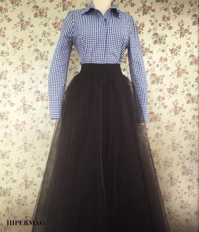 d26146c28a4 Дълга черна пола AGGATA | Онлайн маркови дамски дрехи, мъжки дрехи и дамски  обувки. Online магазин за маркови рокли, блузи, ризи.