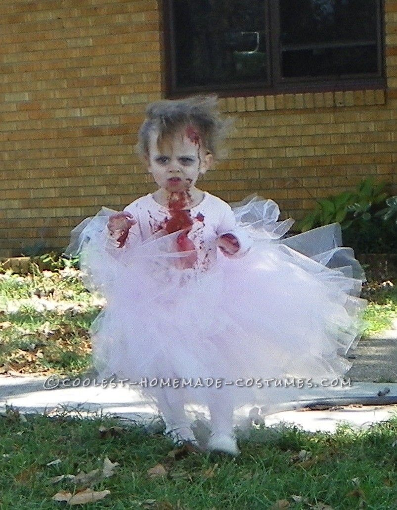 Scary Baby Girl Halloween Costumes.Sweet Little Bloody Zombie Ballerina Toddler Costume Coolest