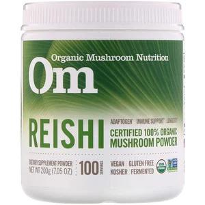 Organic Mushroom Nutrition مسحوق الفطر ريشي 7 05 أوقية 200 جم Iherb Mushroom Powder Stuffed Mushrooms Reishi