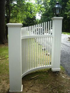 picket fence end of driveway - Google Search