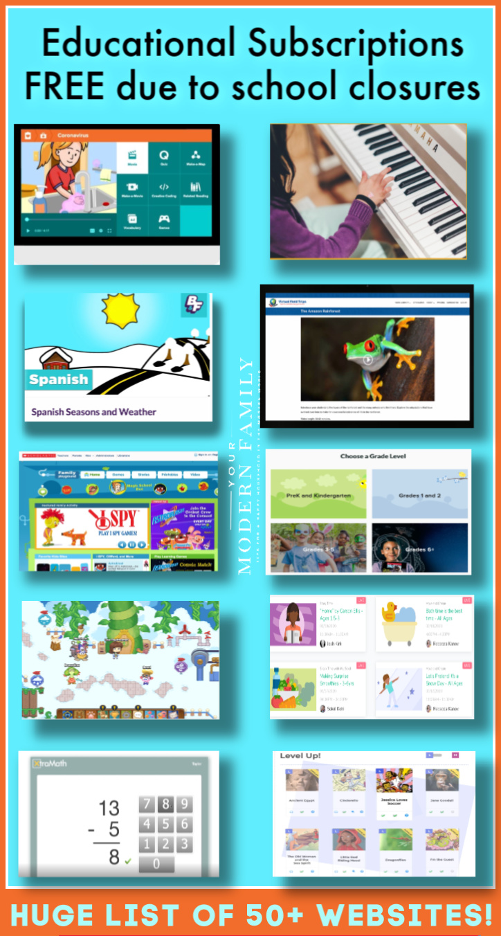 List of Educational Websites Free for Kids due to school