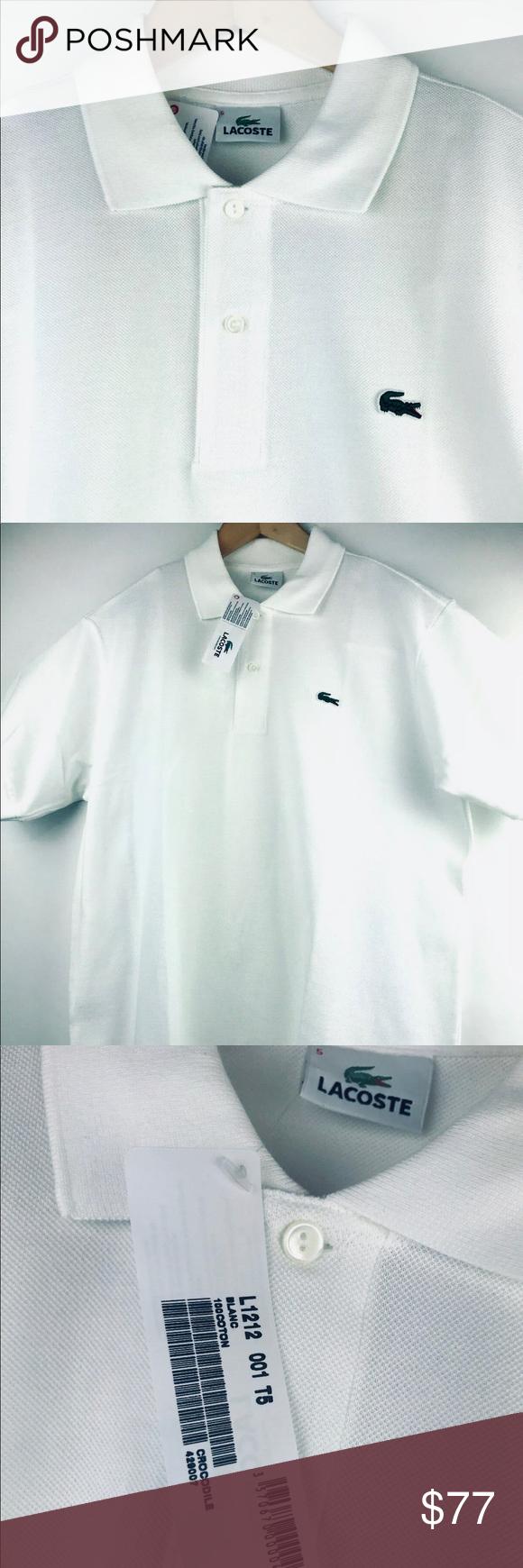 Lacoste Polo Shirt Crocodile Pique White Cotton 5 Lacoste Polo Shirts Lacoste Shirts