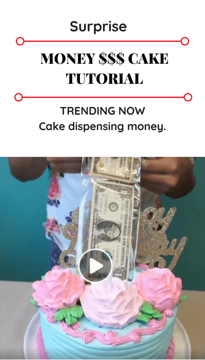 How To Put Money In Cake