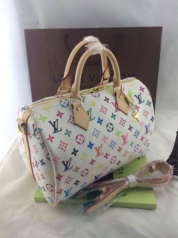 179a4f4afc90 Louis Vuitton White Multi-Color Star Rectangle Pattern – CHICS – Beautiful  Handbags   Accessories
