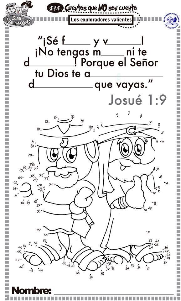 Josue 1 9 Clase Dominical Para Ninos Hojas Para Ninos Actividades De La Escuela Dominical