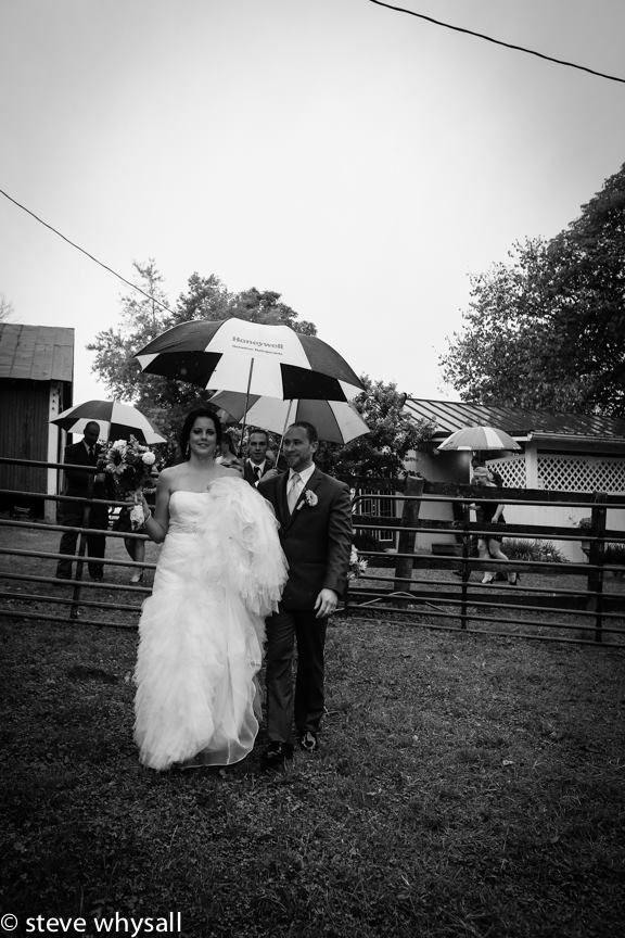 Bride and Groom at Weatherlea Farm in Lovettsville, Virginia