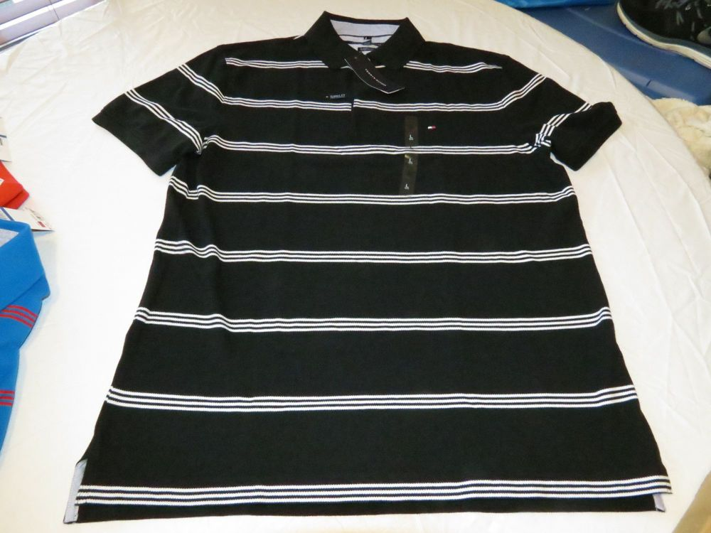 Men's Tommy Hilfiger Polo shirt  logo 7871410 Tommy Black 078 L Classic Fit #TommyHilfiger #polo