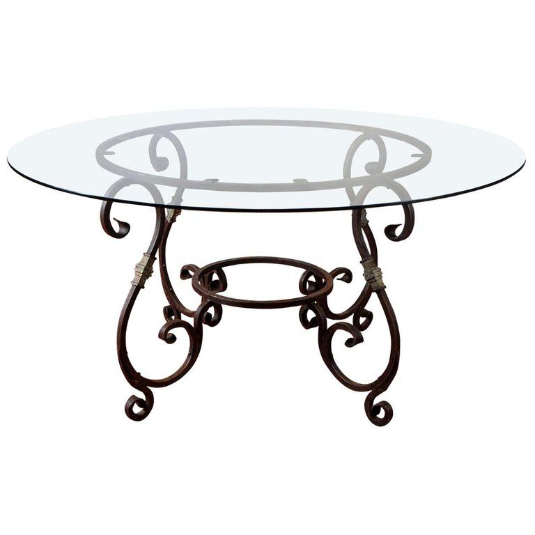 1stdibs Dining Room Table Round Metal Base