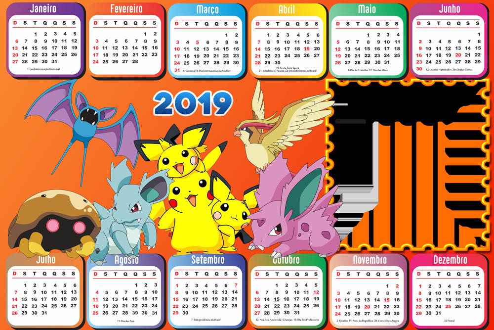Calendario D.Molduras Calendario 2019 Personagens De Desenho Animado