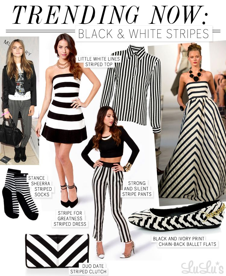 Trend Alert Black And White Stripes Stripes Fashion White Fashion Black White Stripes