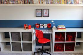 Tryin to make a home: Desk DIY for boys