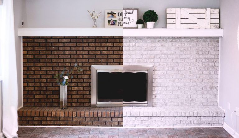 How To Paint A Brick Fireplace Look, How To Paint A Brick Fireplace Look Like Stone