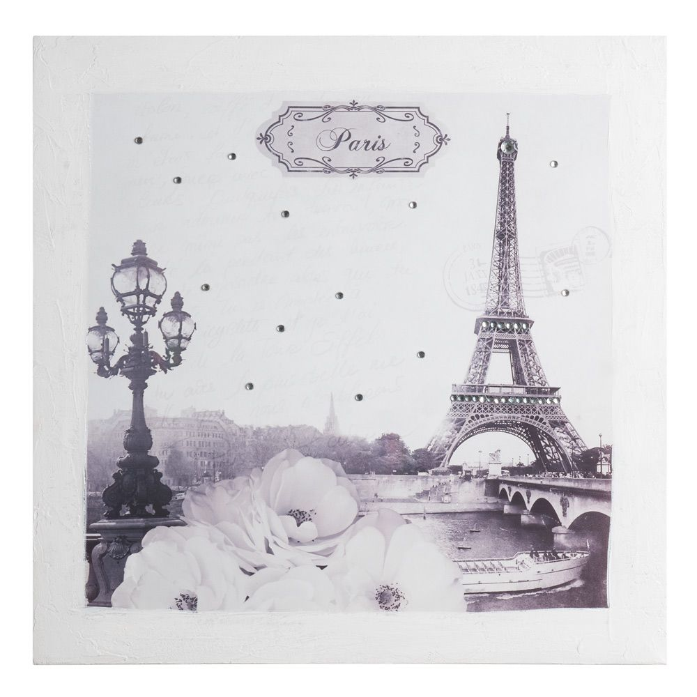 Toile paris roses strass various pinterest nouvelle for Decoration murale toile