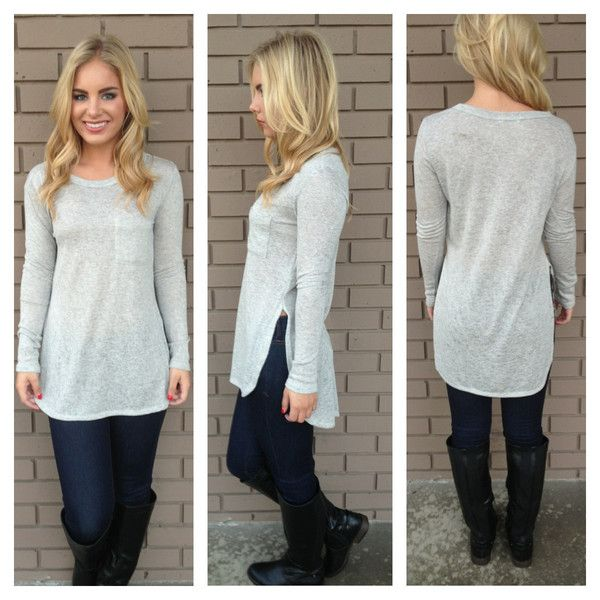 Grey Slit Pocket Tunic