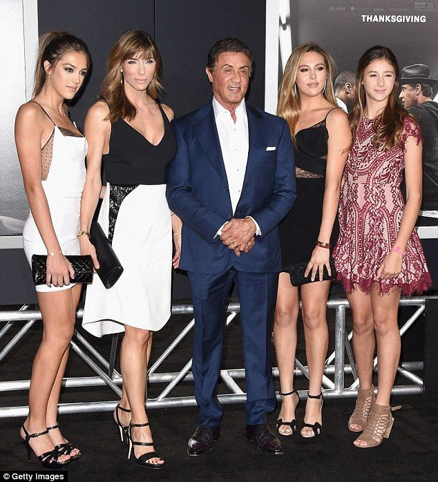 Sylvester Stallone Brings Stunning Teenage Daughters To Creed Premiere Sylvester Stallone Stallone Daughters Sylvester