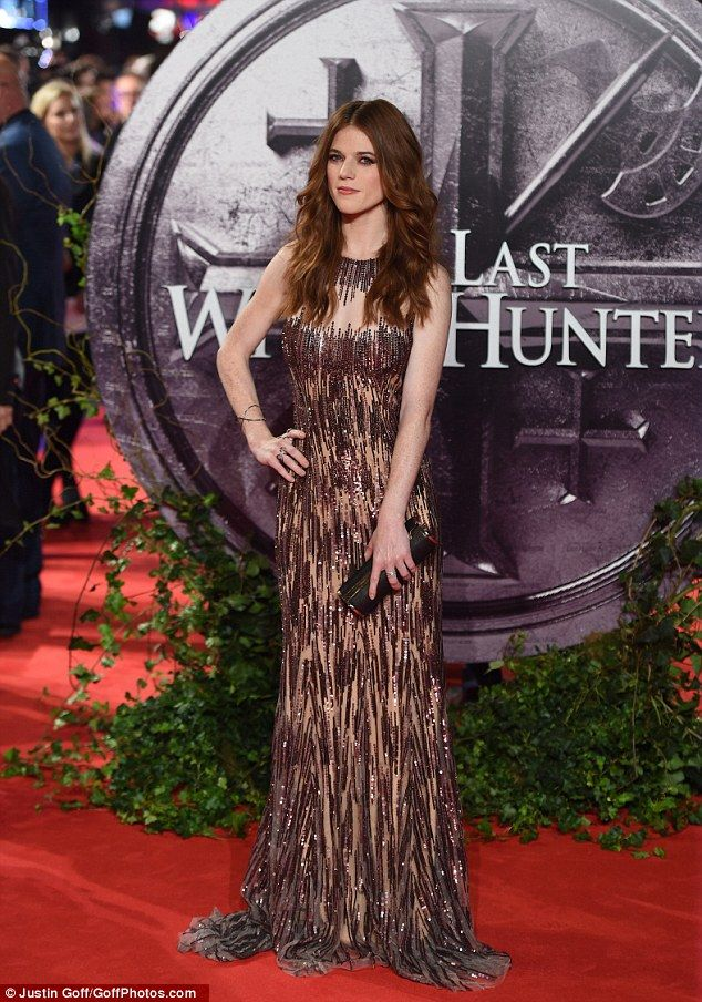 Flawless:The Scottish actress - who's appeared in Game of Thrones and Downton Abbey - bro...