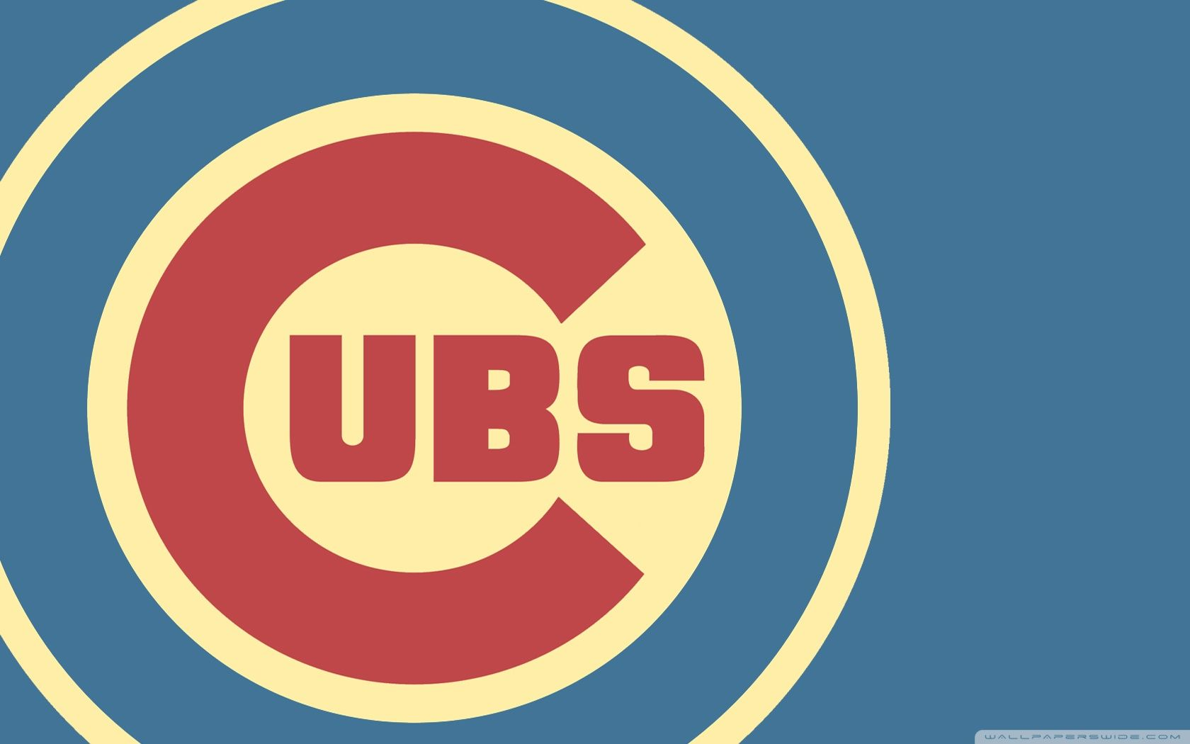 Chicago Cubs Crest And Logo Wallpaper