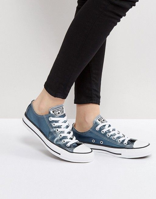 5a118f41b6c9 Converse Chuck Taylor All Star Metallic Canvas Sneakers In Blue ...