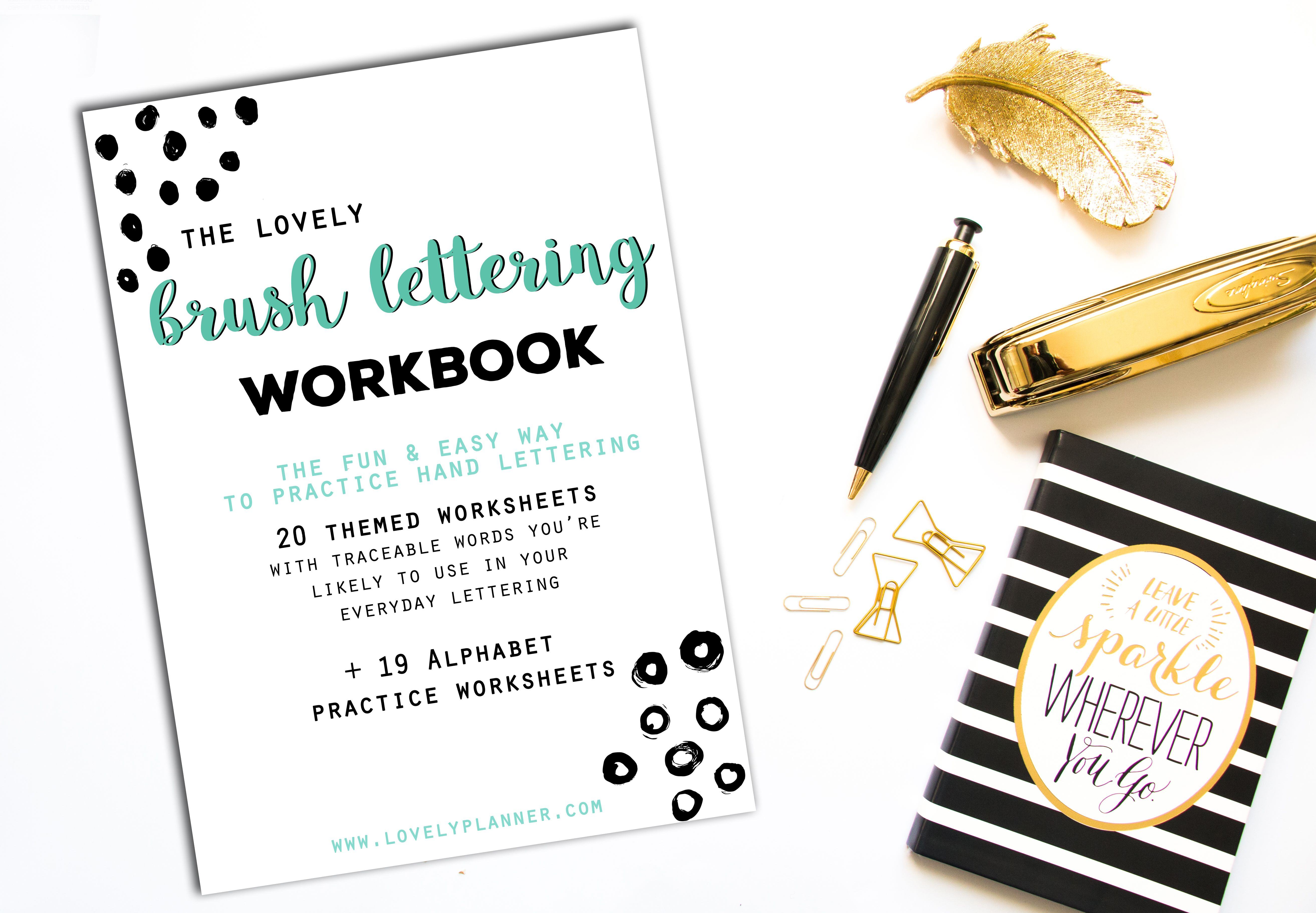 40 Hand Lettering Worksheets For Planners Tns Bujos