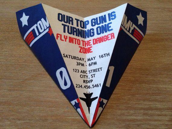 Custom Top Gun Themed Paper Airplane Invitation By RockYourWalls