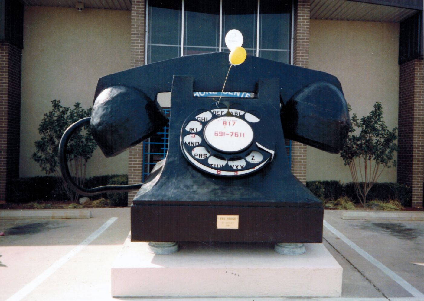 World's Largest Telephone my dad built for Southwest Telecom/MCI in Wichita Falls, Tx. It was sold to a Hollywood production company and used in end credits. Holler if you know which one.