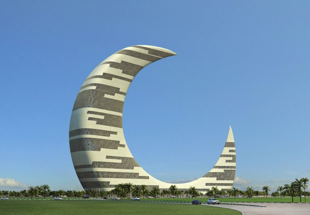 architectural pearl in dubai - crescent moon tower (1