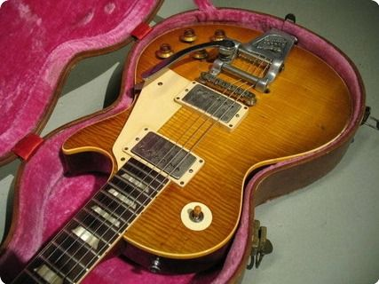 History: The guitar is an original 1959 Les Paul Standard that was purchased new in March 1961 from Farmers Music Store in Luton, United Kingdom, by John Bowen. John played with Mike Dean & the