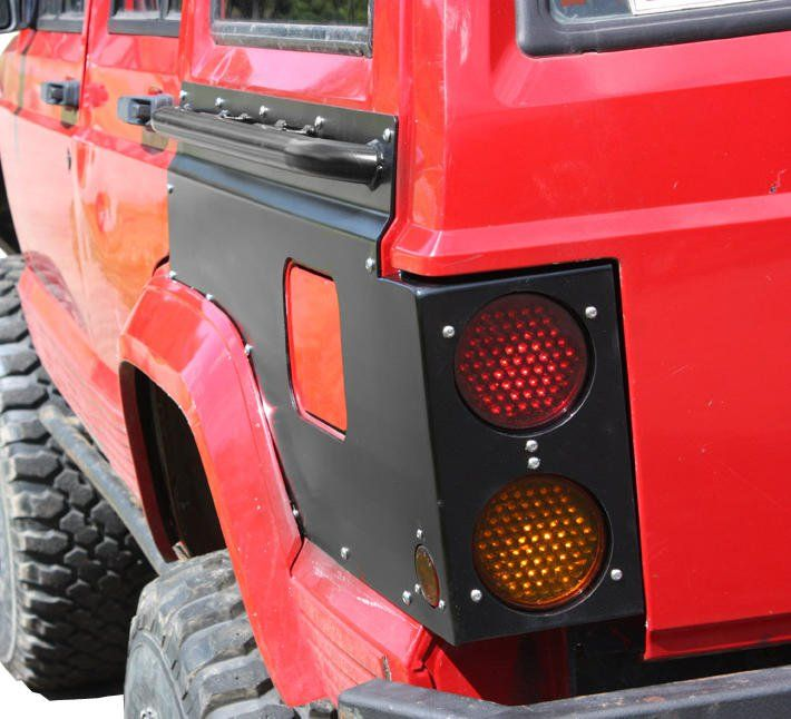 Jcr Offroad Rear Upper Quarter Guards With Led Tail Light Cutouts Rails For 97 01 Jeep Cherokee Xj Jeep Cherokee Jeep Cherokee Xj Jeep