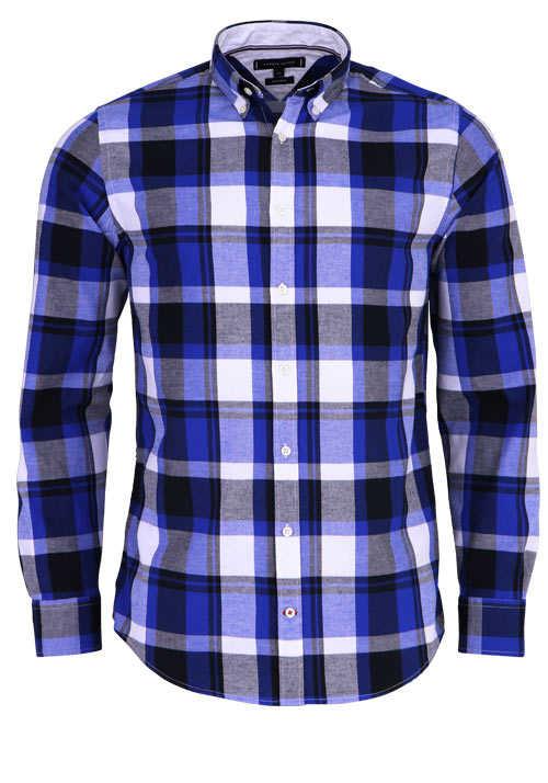 TOMMY HILFIGER Regular Fit Hemd Langarm Button Down Kragen