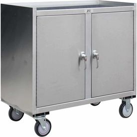 Purchase Stainless Steel Mobile Cabinet Stainless Steel Cart With Locking Cabinet Mobile Medical Record Storage Units At Globalindustrial.Com. & Jamco Stainless Steel Mobile Cabinet YW136 with 2 Doors 36 x 18 1200 ...
