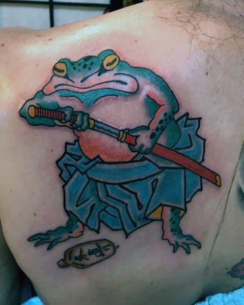 60 Japanese Frog Tattoo Ideas For Men - Amphibian Designs