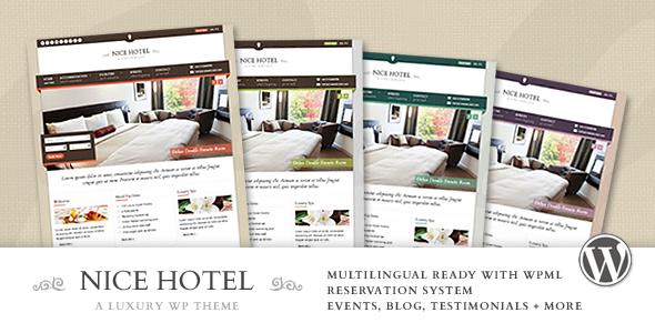 Nice Hotel - WordPress Theme | Wordpress, Wordpress theme design and ...
