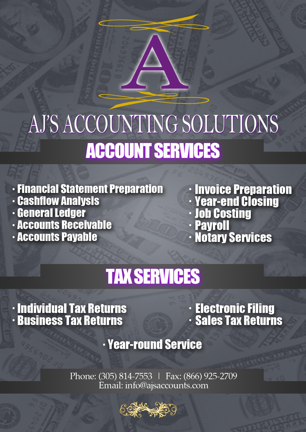 Need an accountant contact ajs accounting solutions