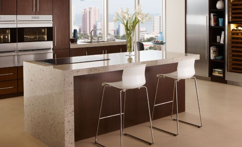 waterfall counter island - google search | kitchen finishes