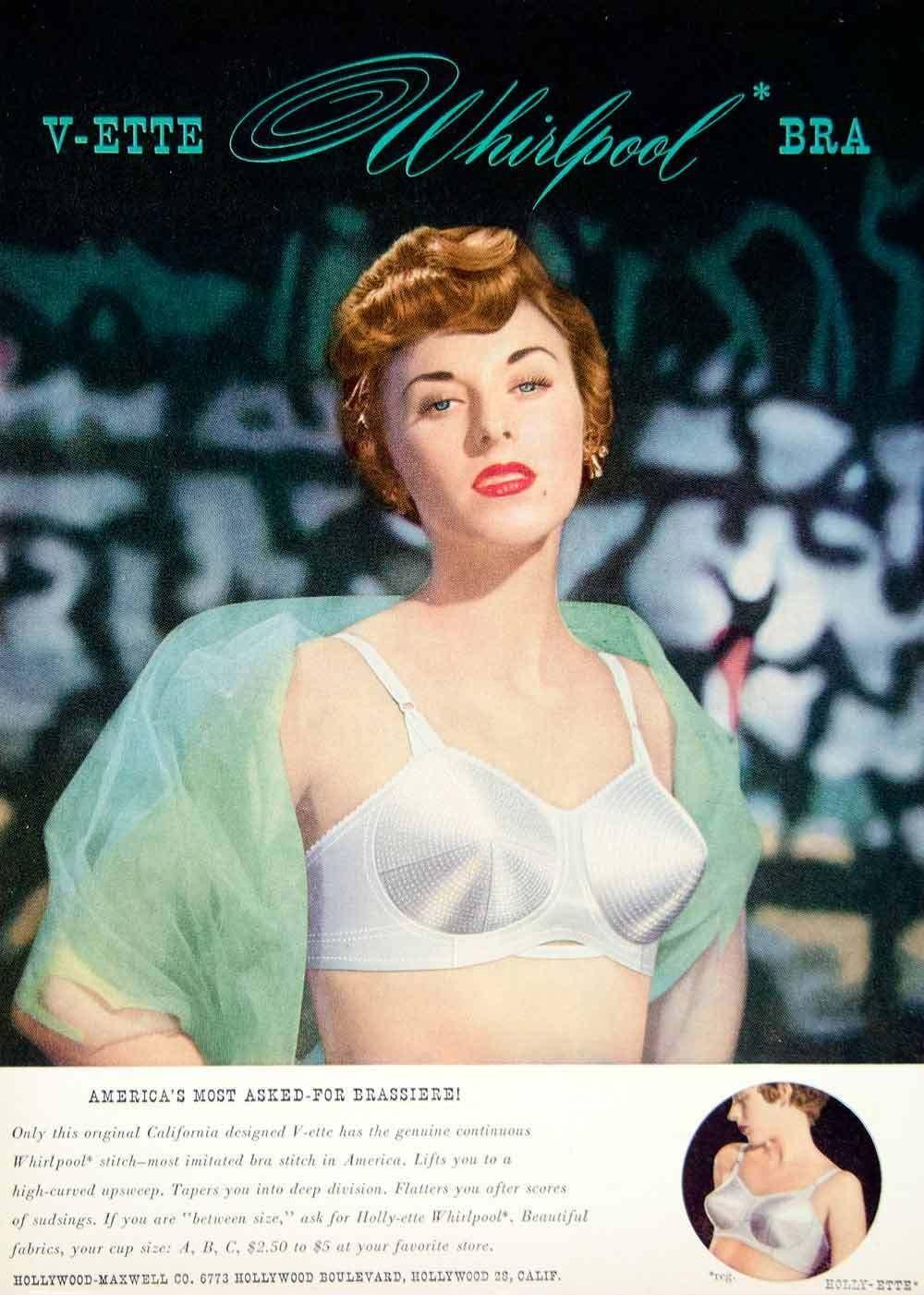 591559de50 1949 Ad V-ette Whirlpool Bra Brassiere Hollywood-Maxwell Underwear 40s  Fashion