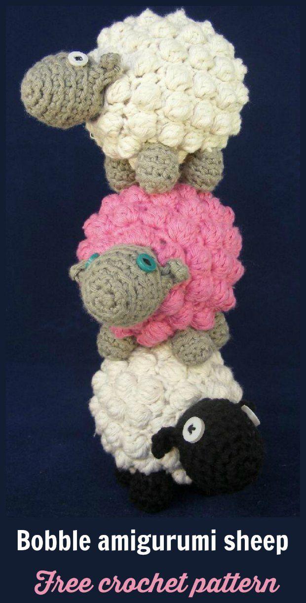 Crochet Amigurumi Sheep Pattern Free | Cartera crochet, Varios y Tejido