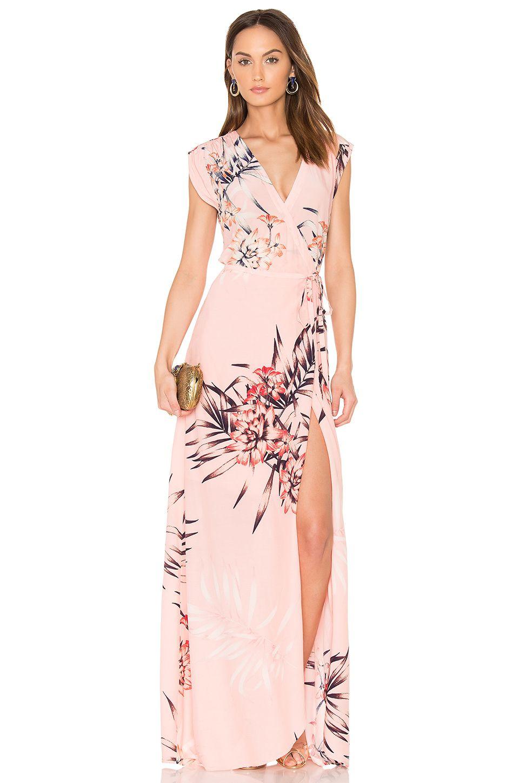 Yumi kim swept away maxi dress in tropical tonic revolve crane