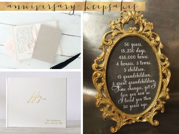 50th wedding anniversary gifts and keepsakes vow books and