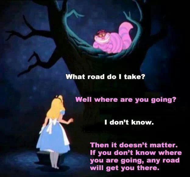 Alice In Wonderland Crossroads Alice And Wonderland Quotes Disney Quotes Wonderland Quotes