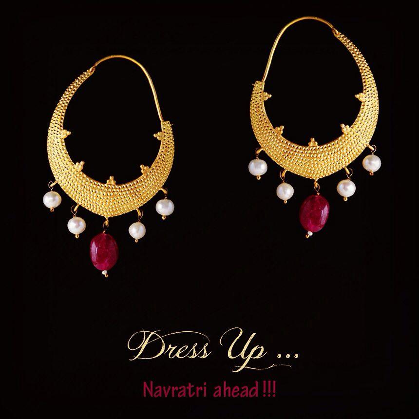 #festive #navratri #silver #goldplated #earrings #online #mustbuy #pearls #ruby #giftoflove