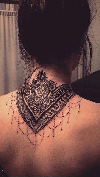 Mandala Tattoo Mod Ink Tatouage Tatouage Dentelle Tatouage Nuque