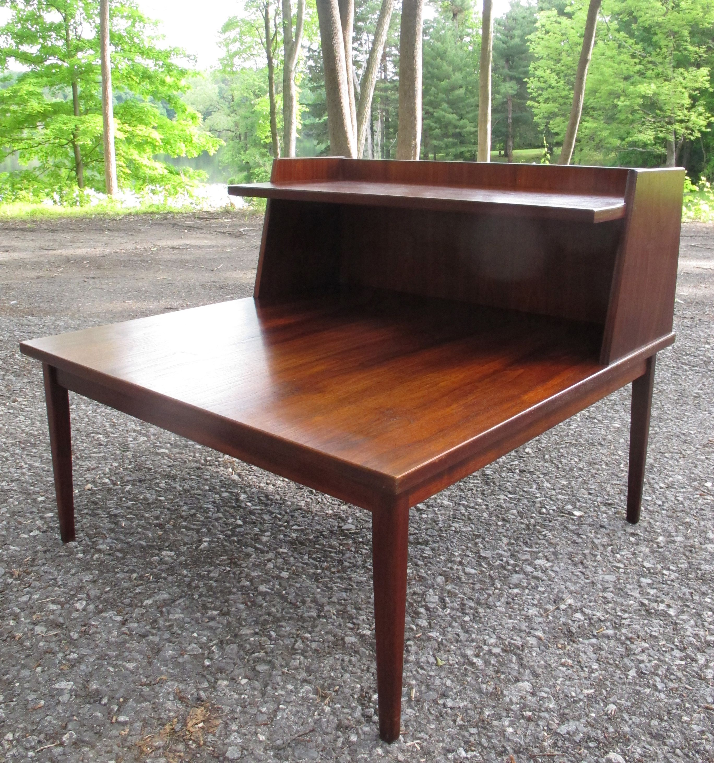 large mid century modern walnut side table sold items adverts
