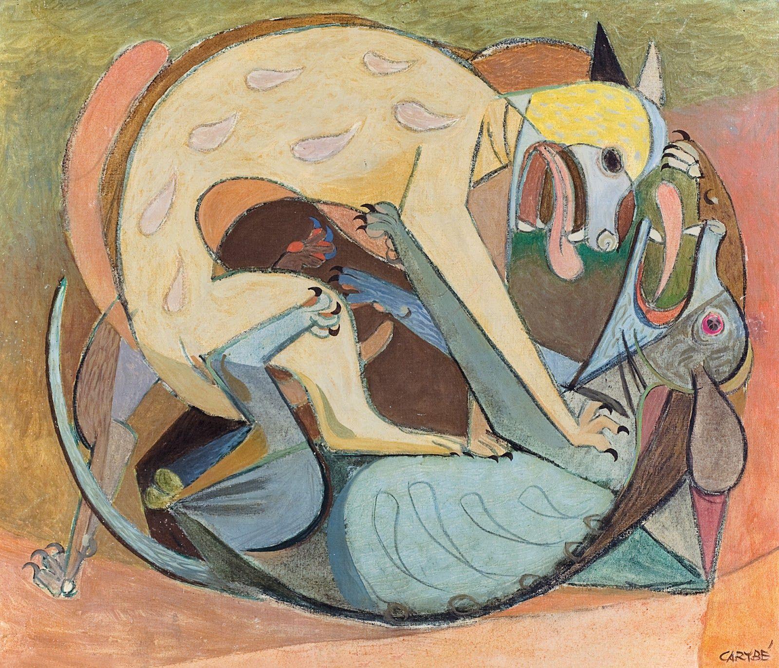 Carybé - Briga de cachorros, 1942