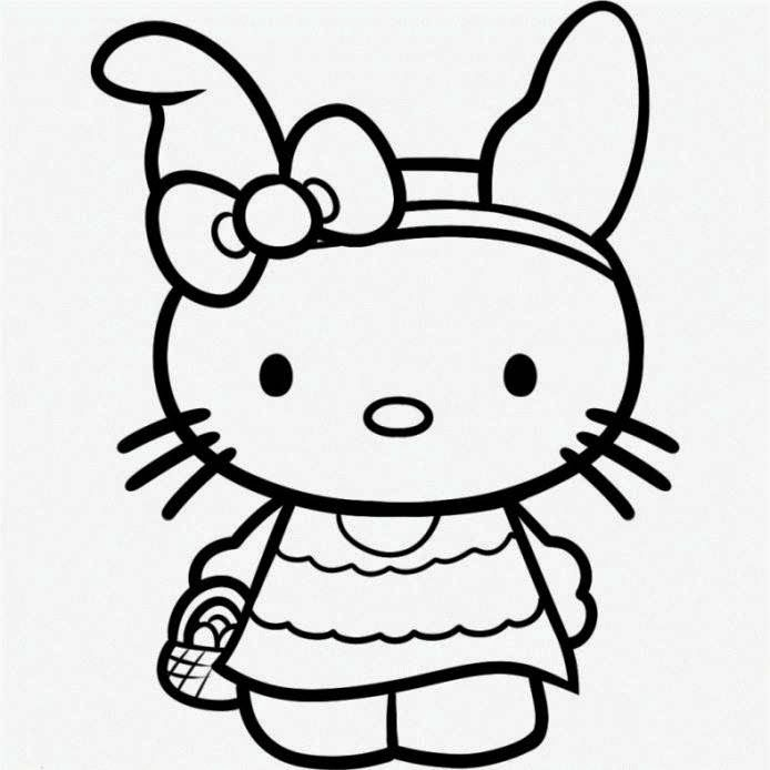 Hello Kitty Easter Coloring Pages Hello Kitty Coloring Hello Kitty Colouring Pages Kitty Coloring