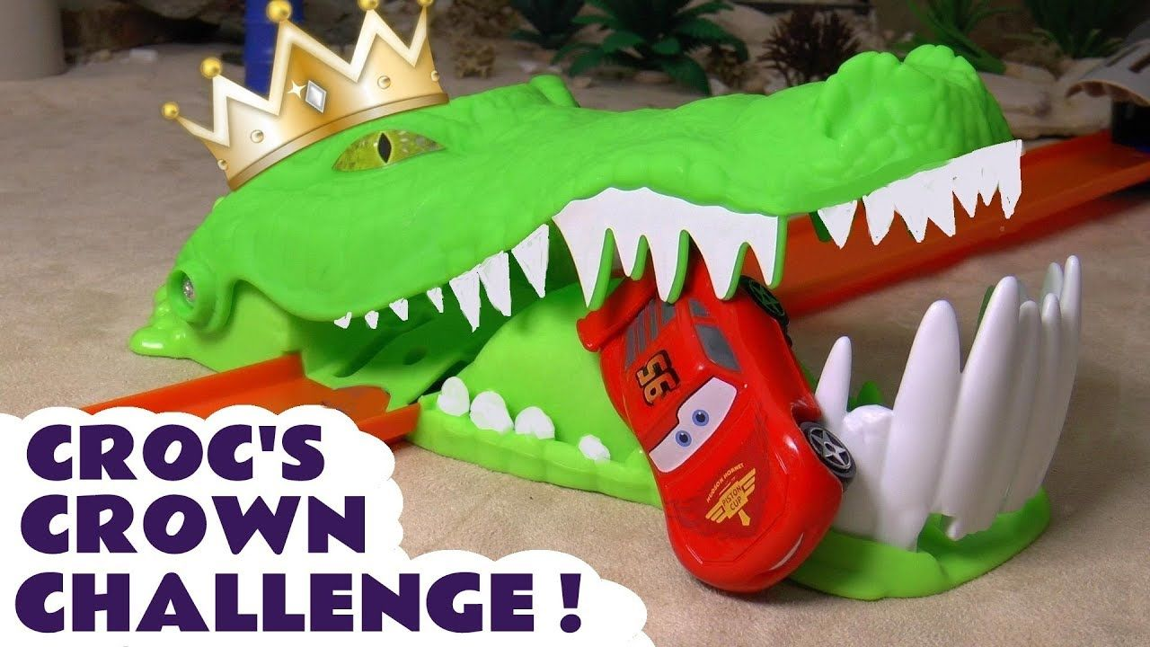 Car 3 toys  Cars Toys McQueen Croc Challenge with Hot Wheels Superhero Cars and