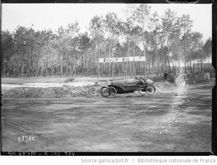 17-9-21, Le Mans, Grand prix des cyclecars, Lombard sur Salmson au virage d'Arnage [sur le circuit de la Sarthe]