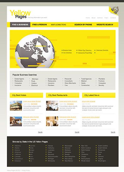 Free business template html httpfreetemplatesonline free business template html httpfreetemplatesonlinetemplates city portal yellow pages 393ml wajeb Image collections
