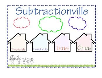 Subtractionville, a great resource for subtraction with and without regrouping.  Also subtracting across zeros!