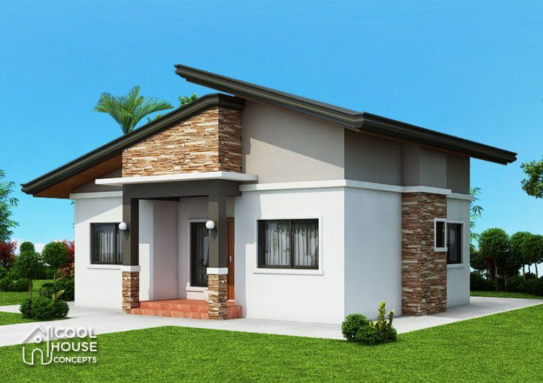 3 Bedroom Bungalow House Plan Cool House Concepts Modern Bungalow House Bungalow House Plans Flat Roof House Designs